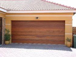 Horizontal slat wooden garage doors from sa door for R value of wood garage door