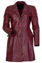 Womens Red Leather Coats