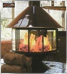 Carousel Wood Heater In Fireplace from Abbey Fireplaces ...
