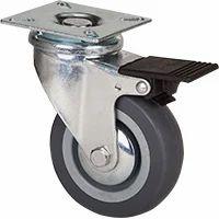 Plate Brake Caster Wheels