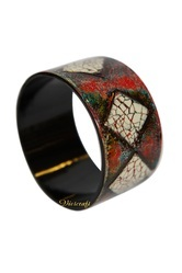 Lacquer Round Bracelet Eggshell Inlaid