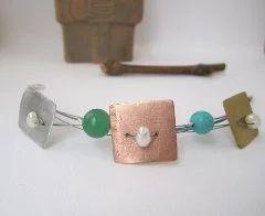Aluminium Squares Bracelet
