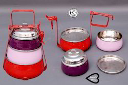 Coloured and Printed Tiffin Ware PT-09