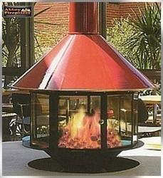 Carousel Wood Heater In Red from Abbey Fireplaces. Manufacturer of ...