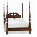 Pediment Rice Queen Bed