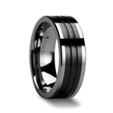 Flat Grooved Tungsten Ring