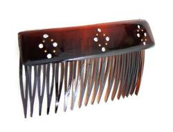 Lip Back Comb With Crystal Stones