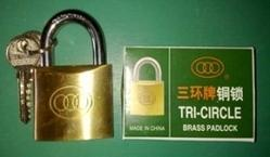 Tricycle Brass Padlock
