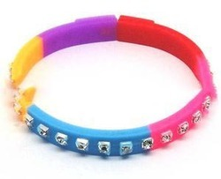 Beautiful Crystal Silicone Beaded Bracelet for Connector