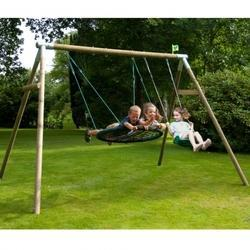 TP Triple Round Wood Swing Set