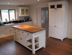 Hand Painted Solid Wood Kitchen, Freestanding
