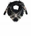Harcoal Grey/Beige Army Blanket Wool Scarf