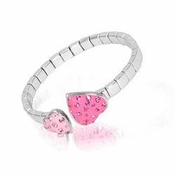 Pink Heart Crystal Bracelet
