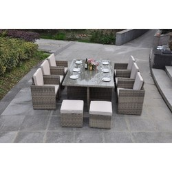 cube set champagne furniture - Garden Furniture 4 U
