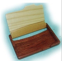 Wooden Name Card Box