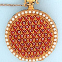 Antique Pocket Watches / Patek Philippe Enamel & Pearl