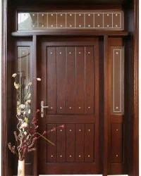 Solid wooden entry doors