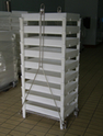 Rack For Grills With Boards And With Legs