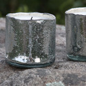 Silvered Bubbled Soy Tumbler Candles