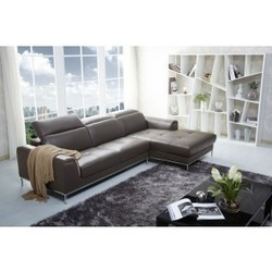 leather sectional right facing chaise cado modern furniture wing