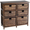 Jolie 6-Drawer Chest Brown