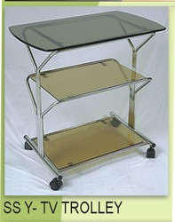 Stainless Steel TV Trolly