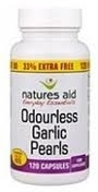 Odourless Garlic Pearls Natures Aid Capsules