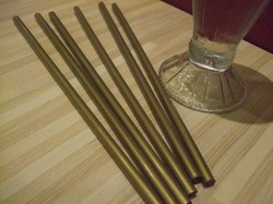 Rich Gold Color Straws
