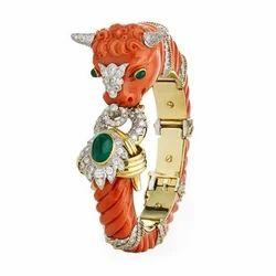 Coral Bull Bracelet