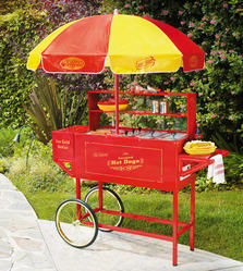 Hot Dog Cart & Umbrella