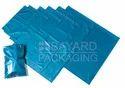 Metallic Blue Plastic Mailing Bags