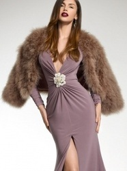 Feather - Mink Feather Collarless Jacket