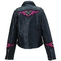 Ladies Black Leather Jacket