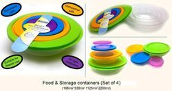 Storage Container Set of 4 Pcs