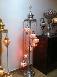 Turkish 7 Ball Chrome Mosaic Floor Lamp from Anatolian Mosaic Bazaar ...