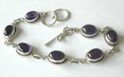 Amethyst Mauve Silver Bracelet