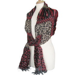 Animal Print Pashmina Polyester Scarves