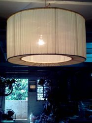 pleated drum lamp from shadow master
