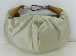 Beige Satin Bracelet Purse Bag