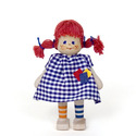 Redhaired Girl With Long Stockings Wooden Doll