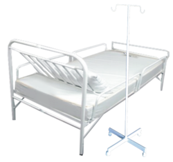 Hospital Bed with Drip Stand
