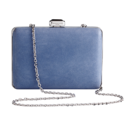 Clutch Calf Leather Ice Blue
