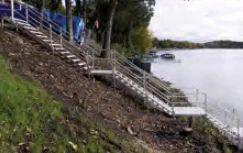 Adjustable Shore Steps From Porta Dock Manufacturer Of