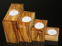 Olive Wood Tea Candle Holders