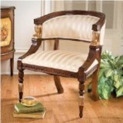 Hand-carved solid hardwood Antique Replica Classic EgyptianChair