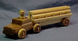 Large Log Truck Toy