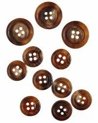 Brown Horn Buttons