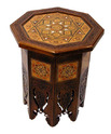 Carved Walnut Accent Table