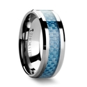 Augustus Blue Carbon Fiber Inlay Tungsten Carbide Band