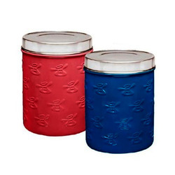 Embossed Colored Pet Canister